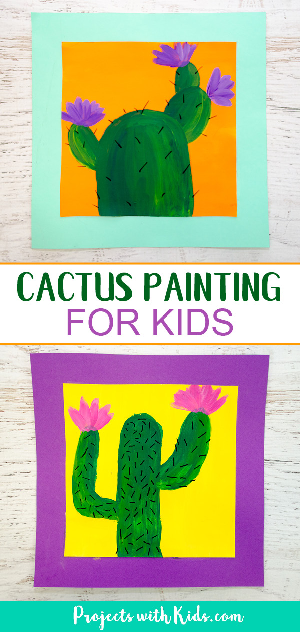 Cactus painting Pinterest image1