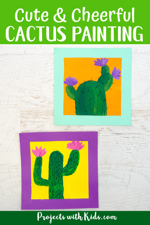 Cactus painting Pinterest image2