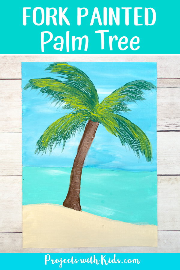 Palm tree fork painting Pinterest image2