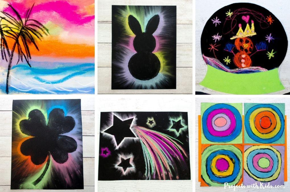 Chalk pastel art projects