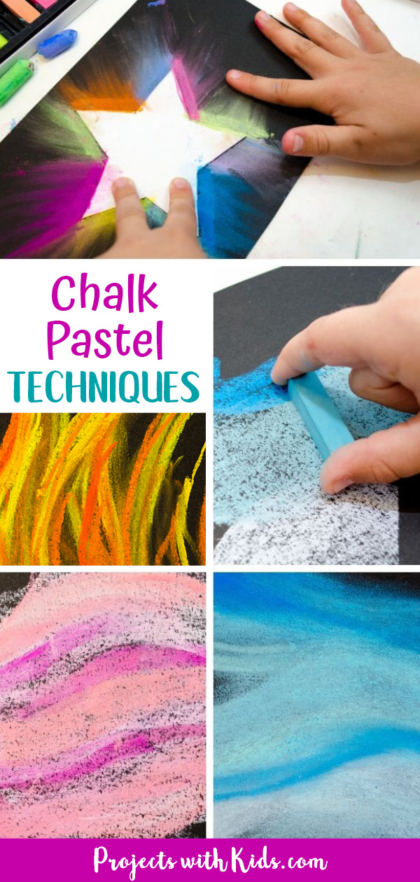 Pinterest image for chalk pastel techniques for kids