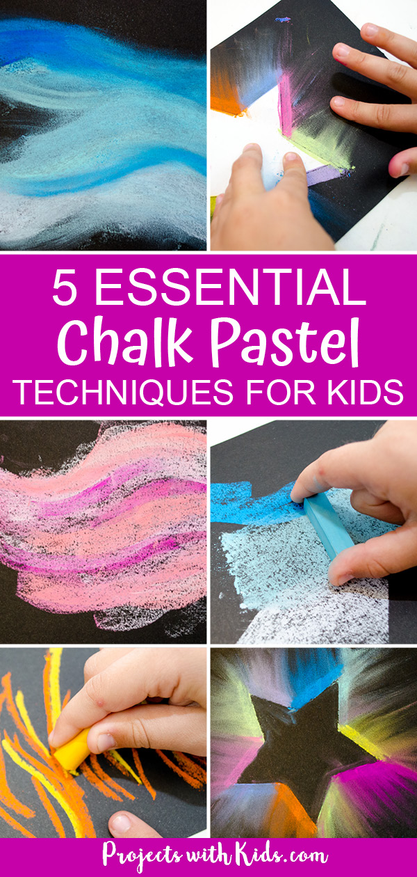 Pinterest image for chalk pastel techniques for beginners