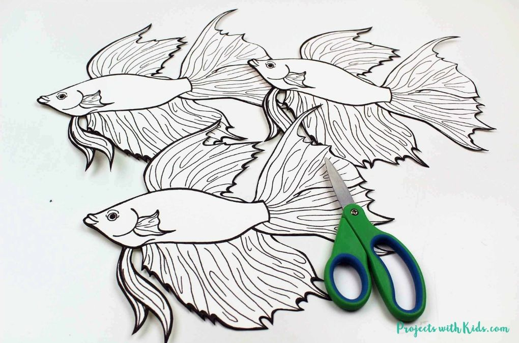 Cut out beta fish templates