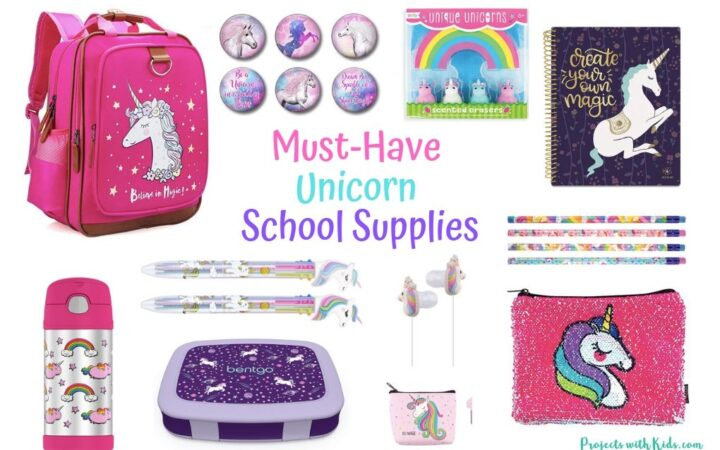 Unicorn school supplies feature image