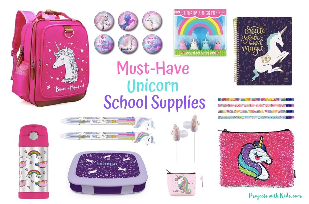 Unicorn school supplies feature image