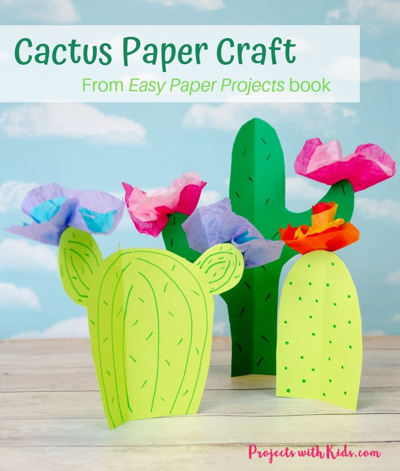 Cactus craft image with text