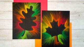 Gorgeous Fall Leaf Chalk Pastel Art Kids Can Make