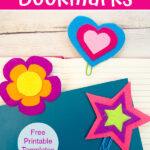 3 felt bookmarks - star, heart and flower Pinterest image2