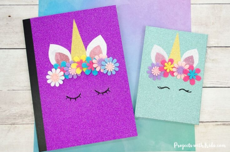 The Most Adorable DIY Unicorn Notebook