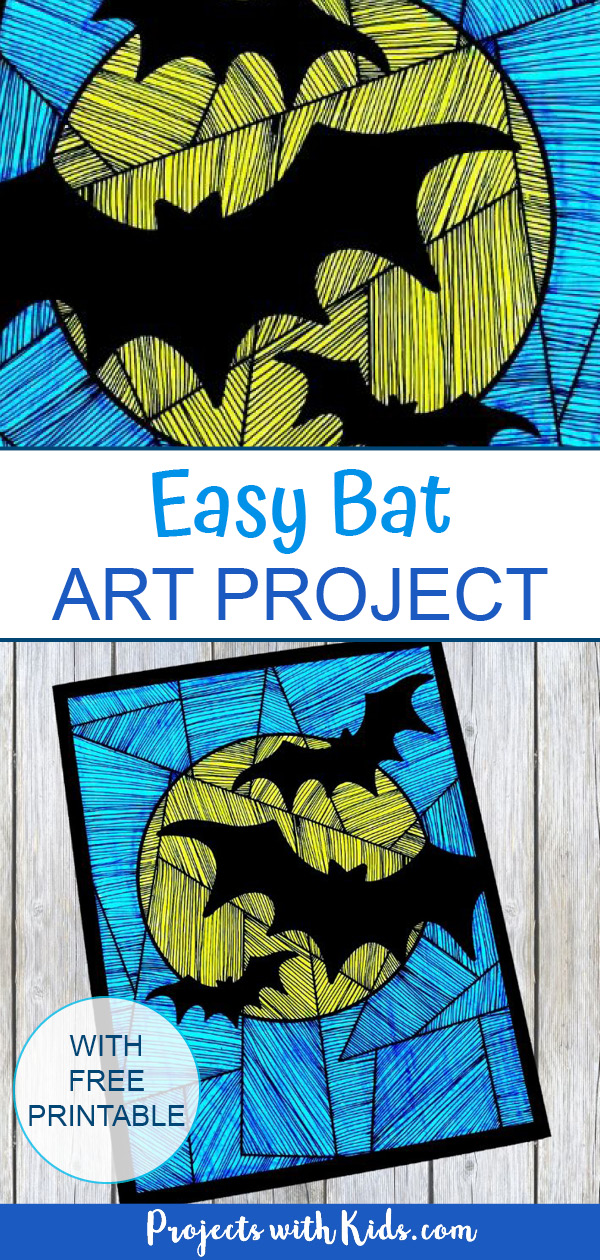 Printable bat craft Pinterest image