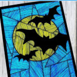 Bat art project with printable