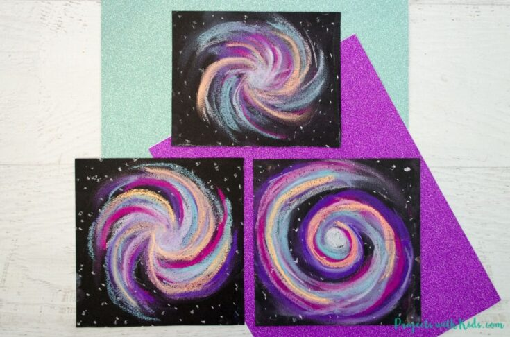 Awesome Galaxy Chalk Pastel Art Project for Kids