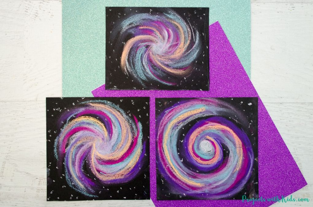 Galaxy chalk pastel art project