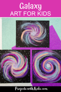 Chalk pastel galaxy art pinterest image
