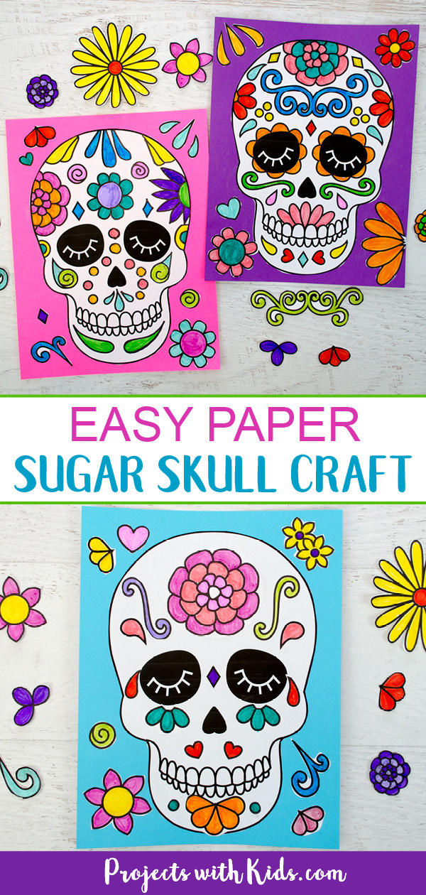 Sugar skull craft for kids