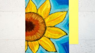 Beautiful Chalk Pastel Sunflowers - Art Project for Kids