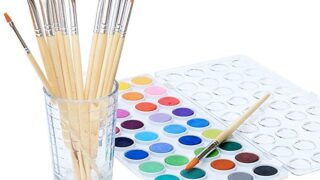 Watercolor Artist Set, 36 Colors, Includes a Variety of 12 Quality Brushes