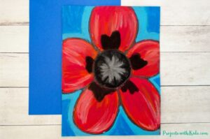 chalk pastel poppies inspired by Georgia O'Keeffe