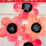 Poppy craft made with watercolors and paper