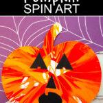 Halloween pumpkin spin art