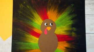 Colorful Chalk Pastel Turkey Craft for Kids
