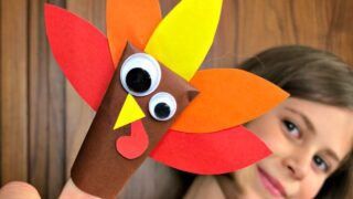Easy Paper Turkey Finger Puppet for Preschool - Red Ted Art
