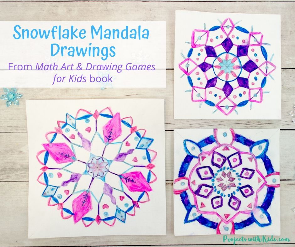 Mandala drawing activity for kids.