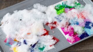 How to Make Tissue Paper Art with Snow