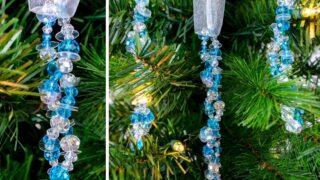 How to Make Easy Beaded Icicle Ornaments for Kids