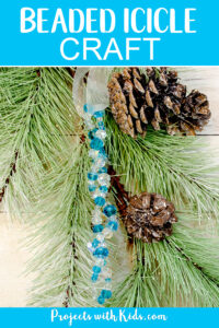 Beaded icicle ornaments craft for kids