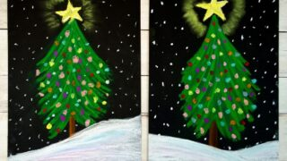 How to Draw a Beautiful Chalk Pastel Christmas Tree