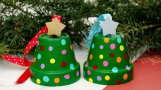 How to Make Adorable Clay Pot Christmas Tree Ornaments