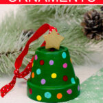 DIY clay pot christmas tree ornaments.