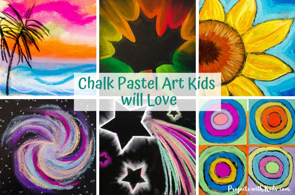 Chalk pastel art for kids