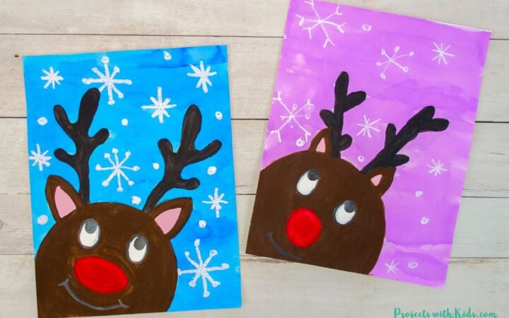 Reindeer painting idea for kids to make