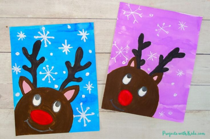 The Most Adorable Reindeer Painting for Kids to Make