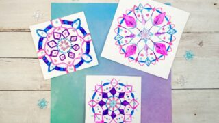 Beautiful Snowflake Mandala Drawings Kids can Make