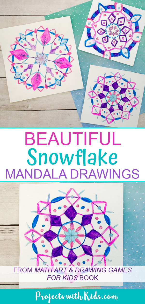 Snowflake mandala drawings for kids
