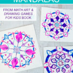 Snowflake mandalas art project for kids
