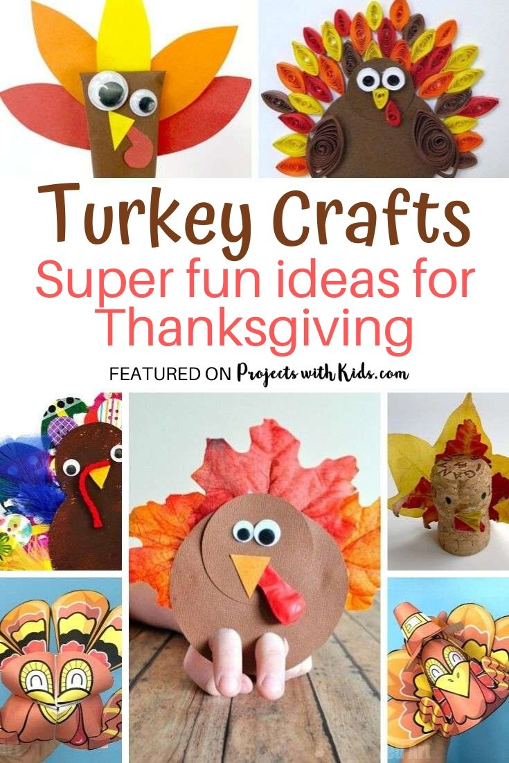 Fun ideas with turkeys for Thanksgiving crafts for kids