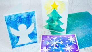 Easy Watercolor Christmas Cards for Kids to Make