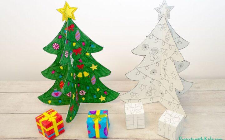 3D printable Christmas tree paper craft