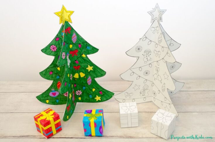 Printable 3D Christmas Tree Paper Craft