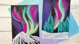 Create Stunning Northern Lights Chalk Pastel Art