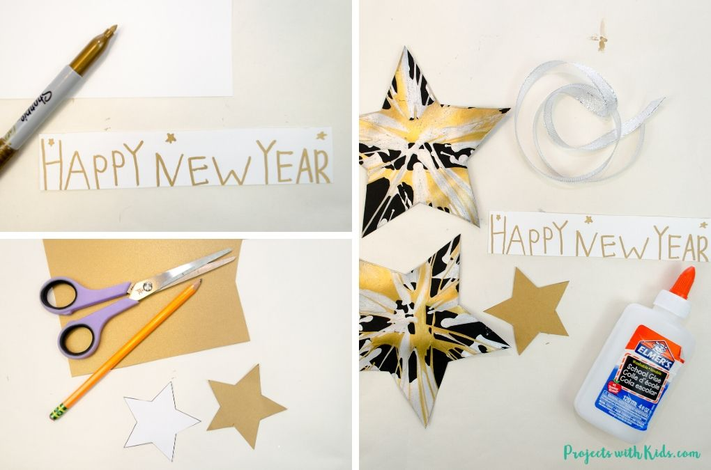 Making a Happy New Year banner.