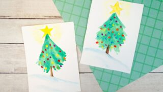How to Paint an Easy Watercolor Christmas Tree
