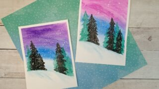 Simple Winter Watercolor Art Project for Kids