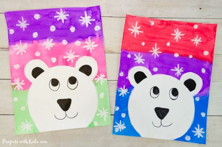 The Cutest Polar Bear Winter Painting for Kids to Make