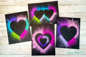 Chalk pastel heart art