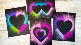 Easy Chalk Pastel Heart Art for Kids to Make